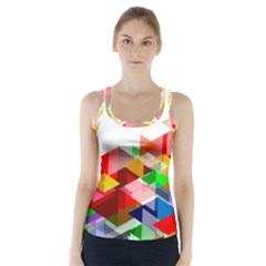 Graphics Cover Gradient Elements Racer Back Sports Top