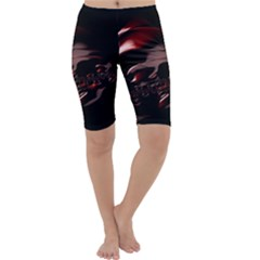 Fractal Mathematic Sabstract Cropped Leggings