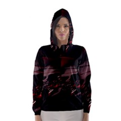 Fractal Mathematic Sabstract Hooded Wind Breaker (women)
