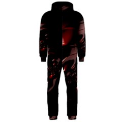 Fractal Mathematic Sabstract Hooded Jumpsuit (men)