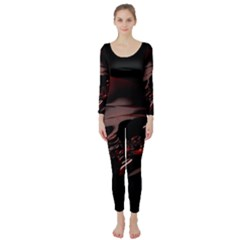 Fractal Mathematic Sabstract Long Sleeve Catsuit