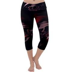 Fractal Mathematic Sabstract Capri Yoga Leggings