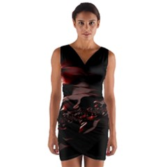 Fractal Mathematic Sabstract Wrap Front Bodycon Dress