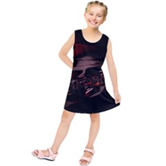 Fractal Mathematic Sabstract Kids  Tunic Dress