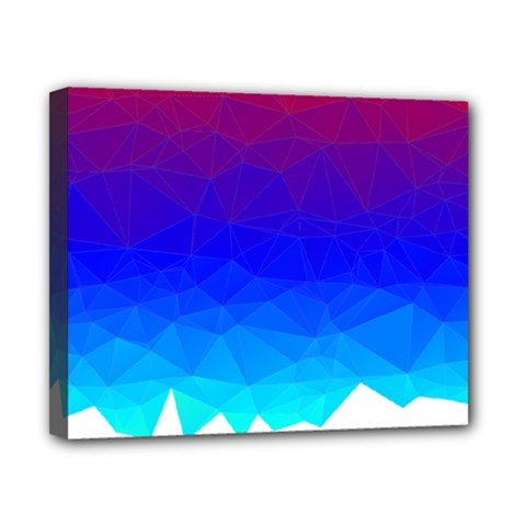 Gradient Red Blue Landfill Canvas 10  X 8