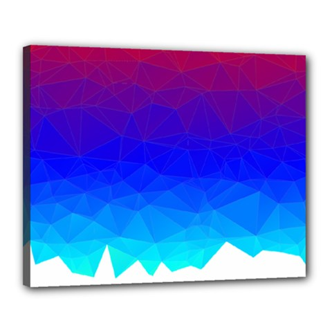 Gradient Red Blue Landfill Canvas 20  X 16