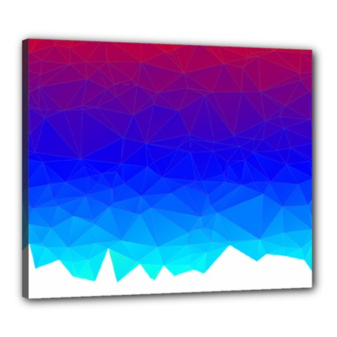 Gradient Red Blue Landfill Canvas 24  X 20