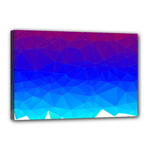 Gradient Red Blue Landfill Canvas 18  X 12