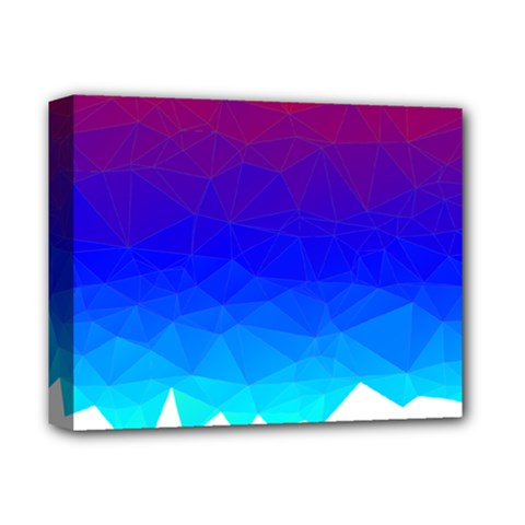 Gradient Red Blue Landfill Deluxe Canvas 14  X 11