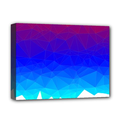 Gradient Red Blue Landfill Deluxe Canvas 16  X 12