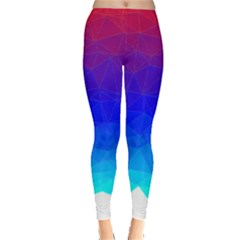 Gradient Red Blue Landfill Leggings