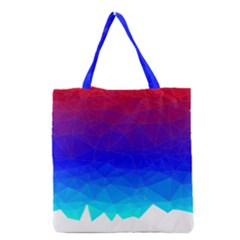 Gradient Red Blue Landfill Grocery Tote Bag