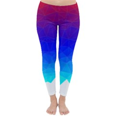 Gradient Red Blue Landfill Classic Winter Leggings