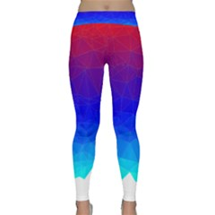 Gradient Red Blue Landfill Classic Yoga Leggings