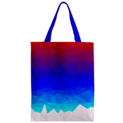 Gradient Red Blue Landfill Zipper Classic Tote Bag