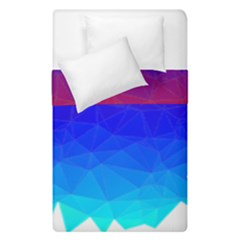 Gradient Red Blue Landfill Duvet Cover Double Side (single Size)