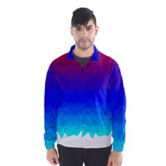 Gradient Red Blue Landfill Wind Breaker (men)