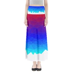 Gradient Red Blue Landfill Maxi Skirts