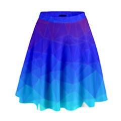 Gradient Red Blue Landfill High Waist Skirt