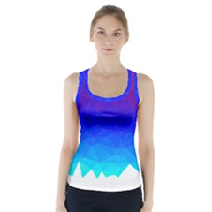 Gradient Red Blue Landfill Racer Back Sports Top