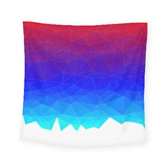 Gradient Red Blue Landfill Square Tapestry (small)