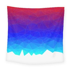 Gradient Red Blue Landfill Square Tapestry (large)