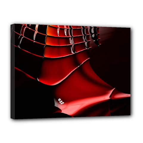 Red Black Fractal Mathematics Abstract Canvas 16  X 12