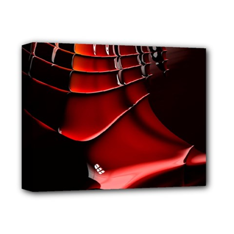Red Black Fractal Mathematics Abstract Deluxe Canvas 14  X 11