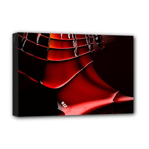 Red Black Fractal Mathematics Abstract Deluxe Canvas 18  X 12