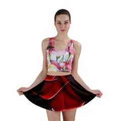 Red Black Fractal Mathematics Abstract Mini Skirt