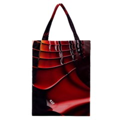 Red Black Fractal Mathematics Abstract Classic Tote Bag