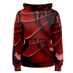 Red Black Fractal Mathematics Abstract Women s Pullover Hoodie