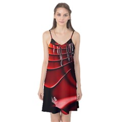 Red Black Fractal Mathematics Abstract Camis Nightgown