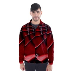 Red Black Fractal Mathematics Abstract Wind Breaker (men)