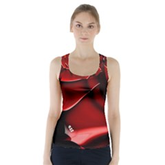 Red Black Fractal Mathematics Abstract Racer Back Sports Top