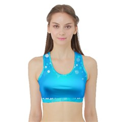 Desktop Banner Postcard Hearts Sports Bra with Border