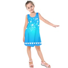 Desktop Banner Postcard Hearts Kids  Sleeveless Dress