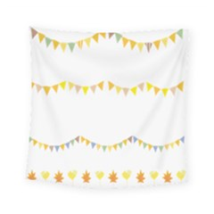 Season Flower Floral Spring Square Tapestry (small)