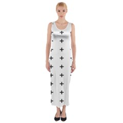 Sign Cross Plus Black Fitted Maxi Dress