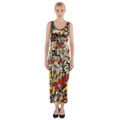 My Fantasy World 38 Fitted Maxi Dress