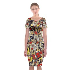 My Fantasy World 38 Classic Short Sleeve Midi Dress