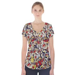 My Fantasy World 38 Short Sleeve Front Detail Top
