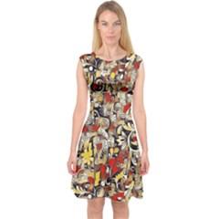My Fantasy World 38 Capsleeve Midi Dress