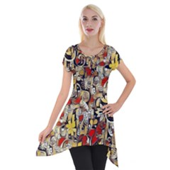 My Fantasy World 38 Short Sleeve Side Drop Tunic