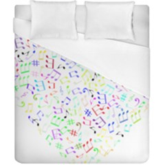 Prismatic Musical Heart Love Notes Rainbow Duvet Cover (california King Size)