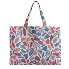 Spencer Leaf Floral Purple Pink Blue Rainbow Zipper Mini Tote Bag