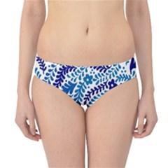 Spring Flower Leaf Blue Hipster Bikini Bottoms