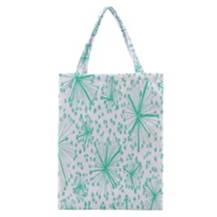 Spring Floral Green Flower Classic Tote Bag