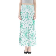 Spring Floral Green Flower Maxi Skirts