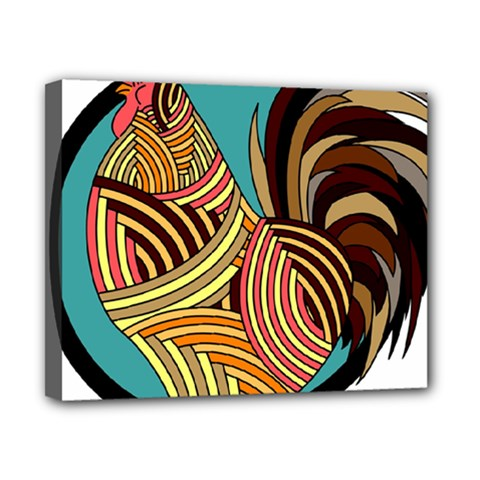 Rooster Poultry Animal Farm Canvas 10  X 8